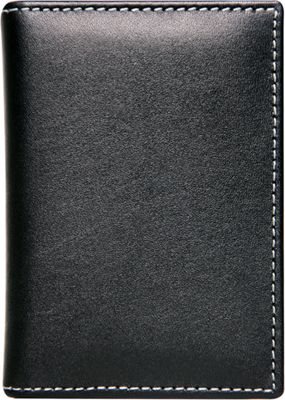 Stewart Stand Leather Exterior Driving Stainless Steel Wallet - RFID Black - Stewart Stand Men's Wallets