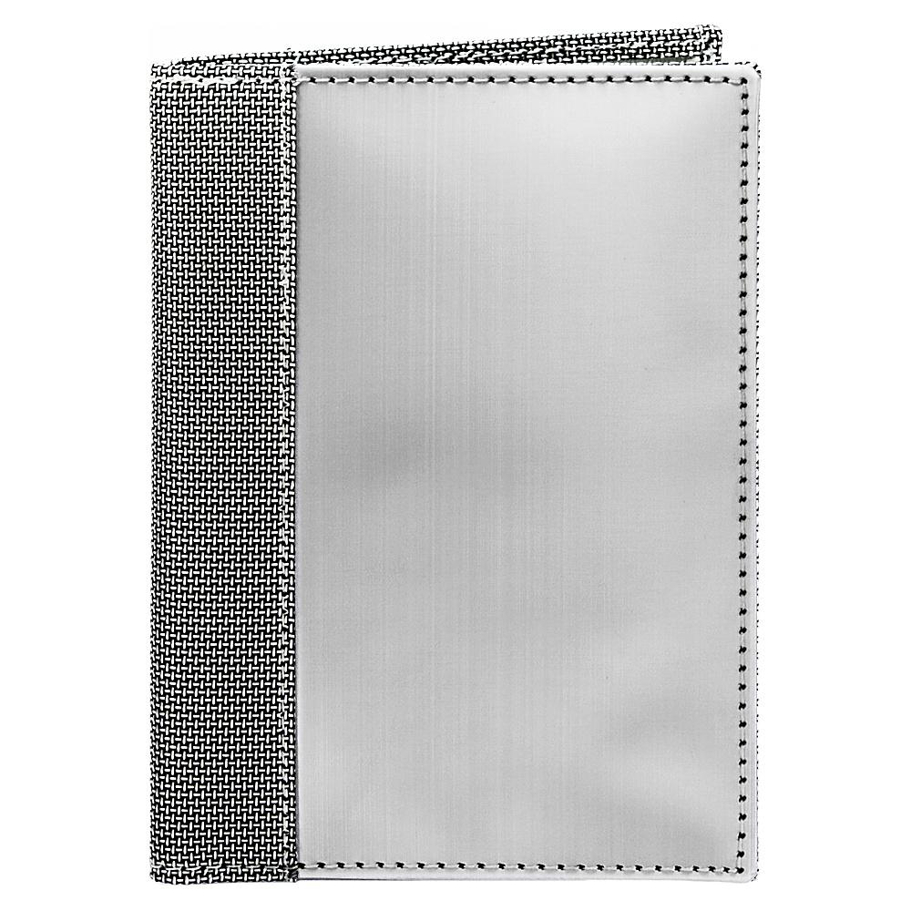 Stewart Stand Passport Sleeve Stainless Steel Wallet RFID Silver Grey Mesh Stewart Stand Travel Wallets