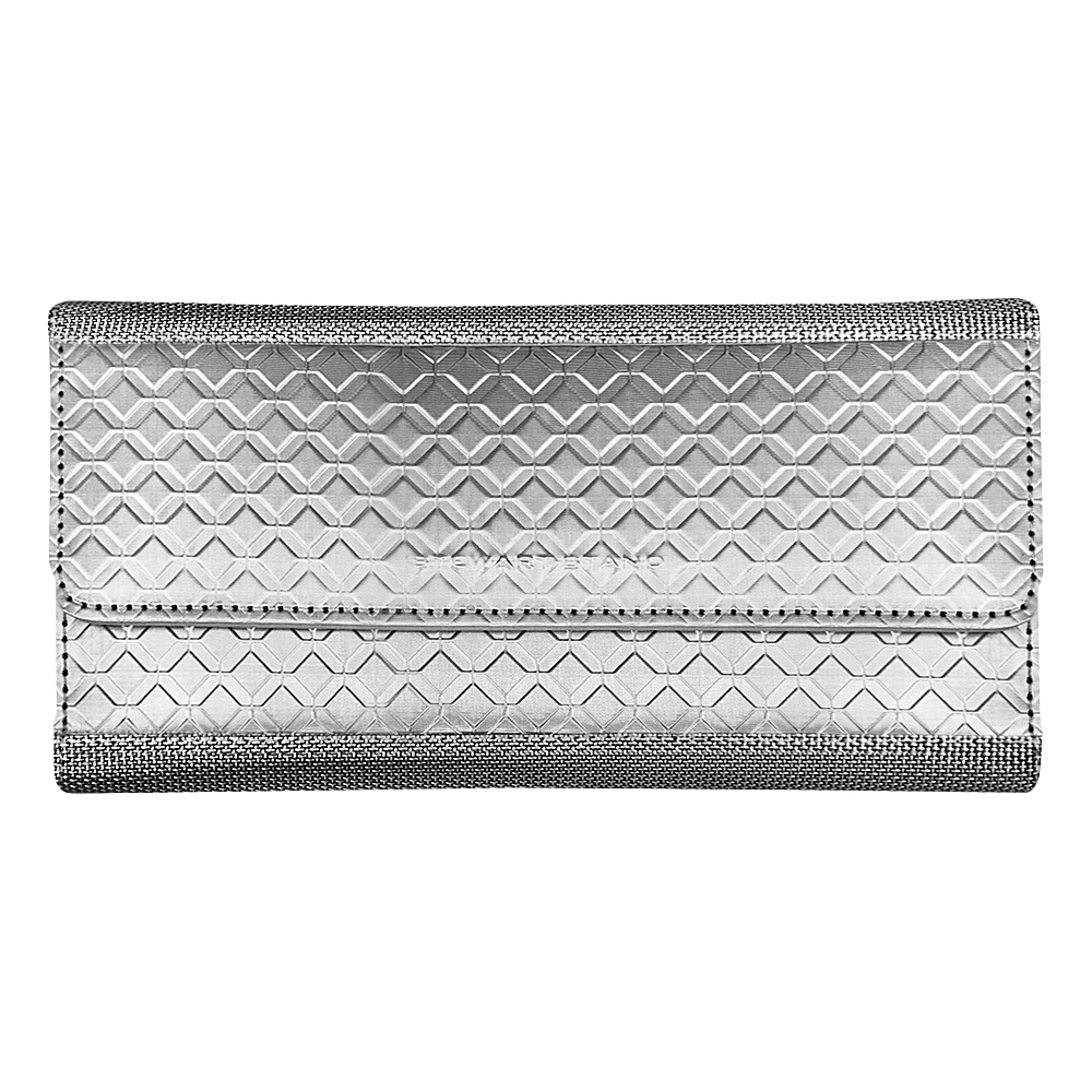 Stewart Stand Continental Stainless Steel Clutch RFID Silver Grey Mesh Stewart Stand Women s Wallets