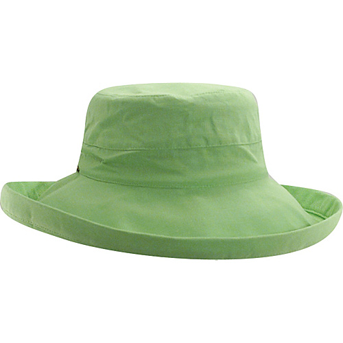 Scala Hats Cotton Big Brim w/ Drawstring LIME - Scala Hats Hats