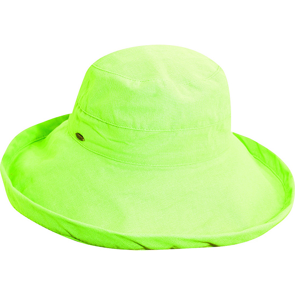 Scala Hats Cotton Big Brim w Drawstring Mint Scala Hats Hats Gloves Scarves