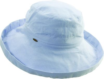 Scala Hats Scala Hats Cotton Big Brim w/ Drawstring One Size - Mist - Scala Hats Hats/Gloves/Scarves
