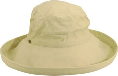 Scala Hats Scala Hats Cotton Big Brim w/ Drawstring One Size - Natural - Scala Hats Hats/Gloves/Scarves