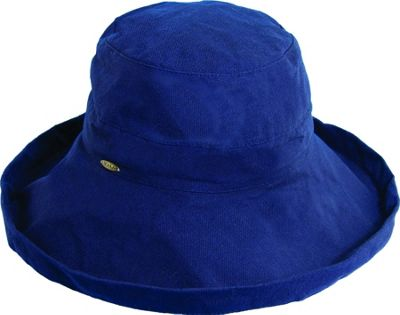 Scala Hats Cotton Big Brim w/ Drawstring One Size - Navy - Scala Hats Hats/Gloves/Scarves