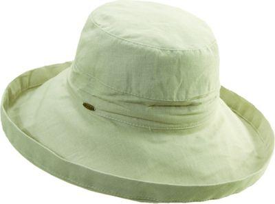 Scala Hats Cotton Big Brim w/ Drawstring One Size - Oatmeal - Scala Hats Hats/Gloves/Scarves