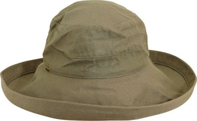 Scala Hats Scala Hats Cotton Big Brim w/ Drawstring One Size - Olive - Scala Hats Hats/Gloves/Scarves