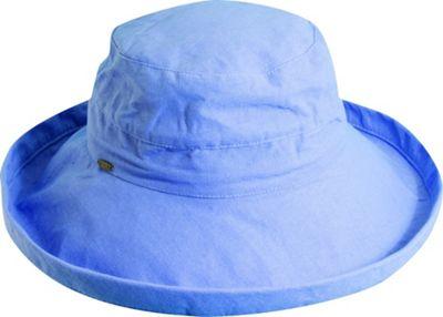 Scala Hats Cotton Big Brim w/ Drawstring One Size - Periwinkle - Scala Hats Hats/Gloves/Scarves