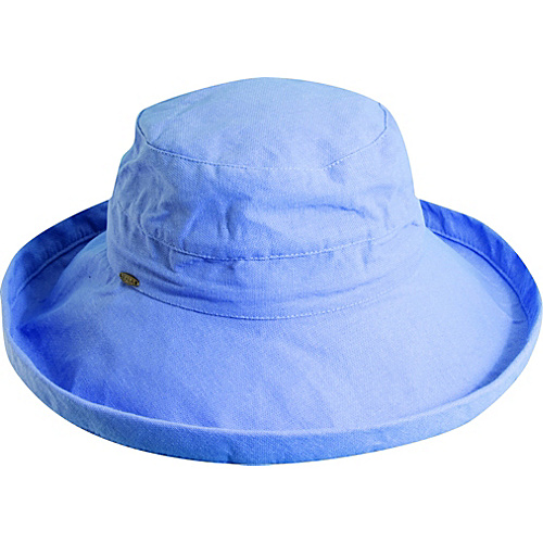 Scala Hats Cotton Big Brim w/ Drawstring PERIWINKLE - Scala Hats Hats