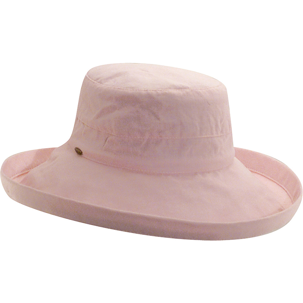Scala Hats Cotton Big Brim w Drawstring Pink Scala Hats Hats Gloves Scarves