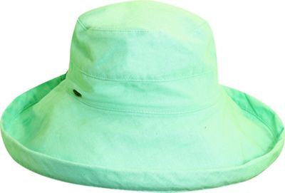 Scala Hats Scala Hats Cotton Big Brim w/ Drawstring One Size - Aqua - Scala Hats Hats/Gloves/Scarves