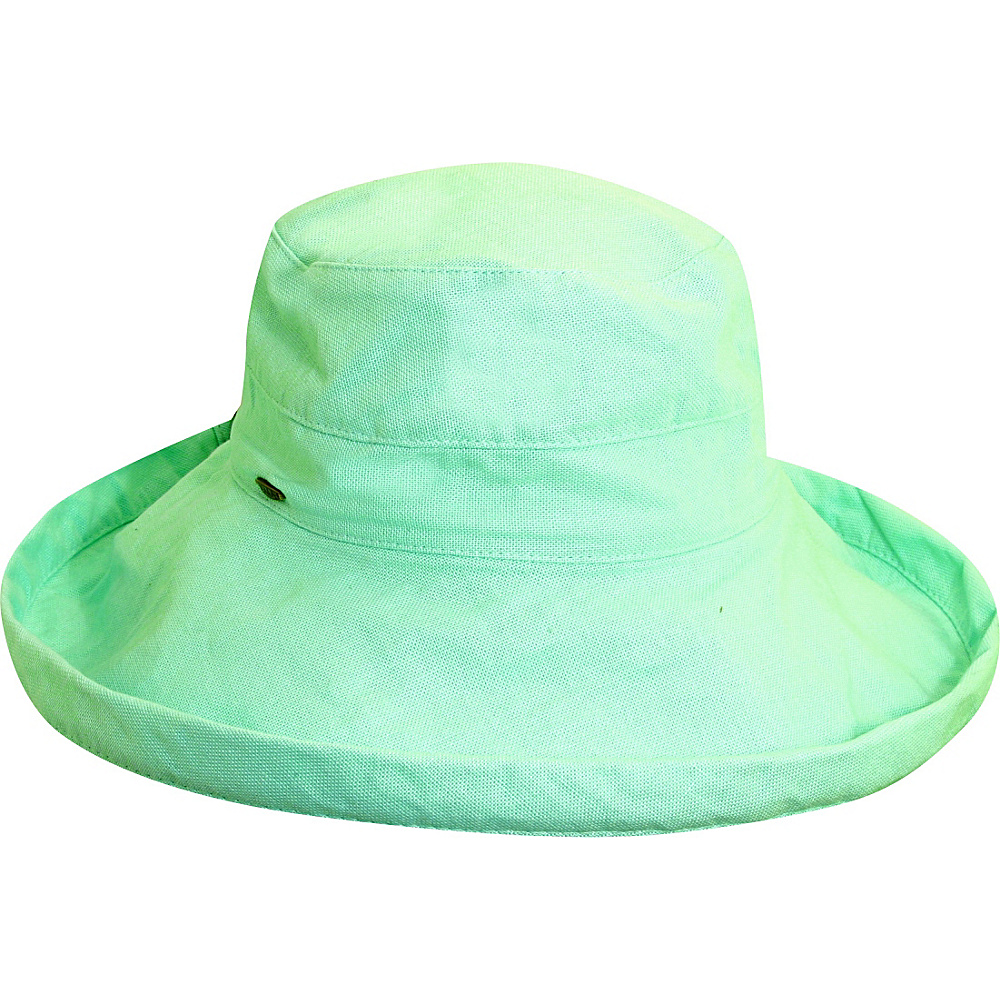 Scala Hats Cotton Big Brim w Drawstring Aqua Scala Hats Hats Gloves Scarves