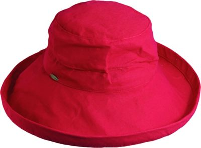 Scala Hats Cotton Big Brim w/ Drawstring One Size - Red - Scala Hats Hats/Gloves/Scarves