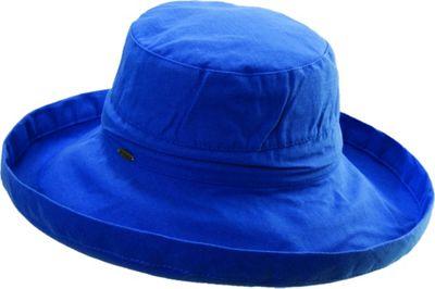Scala Hats Cotton Big Brim w/ Drawstring One Size - Royal - Scala Hats Hats/Gloves/Scarves