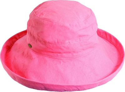 Scala Hats Scala Hats Cotton Big Brim w/ Drawstring One Size - Salmon - Scala Hats Hats/Gloves/Scarves