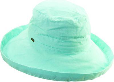 Scala Hats Cotton Big Brim w/ Drawstring One Size - Seaglass - Scala Hats Hats/Gloves/Scarves