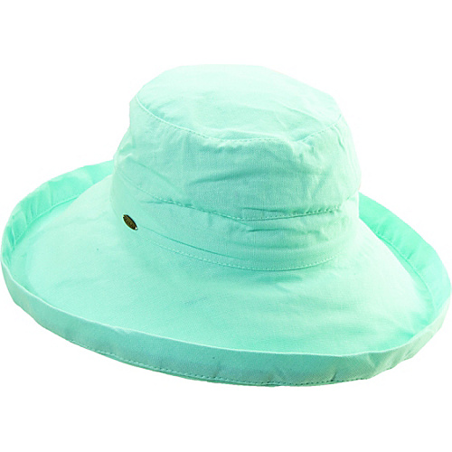 Scala Hats Cotton Big Brim w/ Drawstring SEAGLASS - Scala Hats Hats