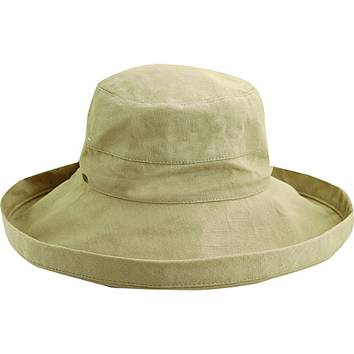 Scala Hats Cotton Big Brim w/ Drawstring TAUPE - Scala Hats Hats