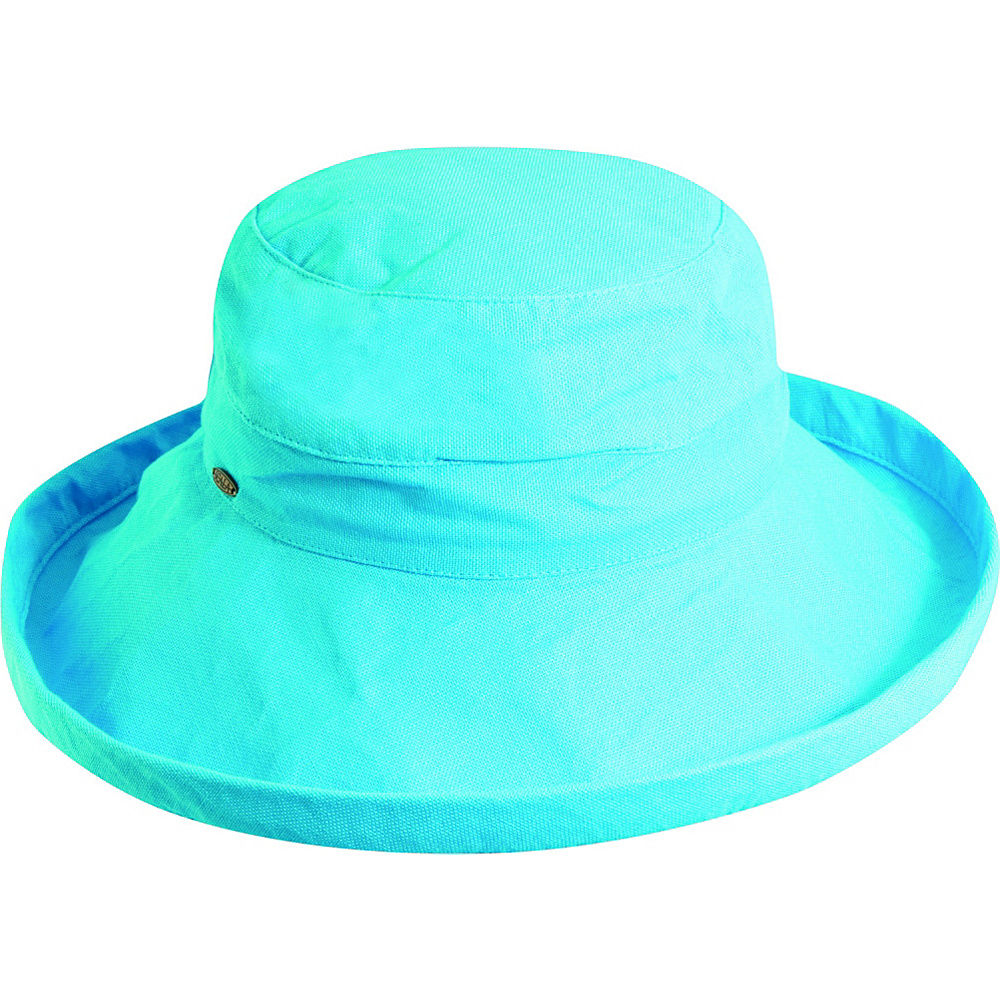 Scala Hats Cotton Big Brim w Drawstring Turquoise Scala Hats Hats Gloves Scarves