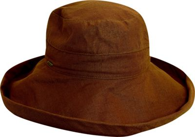 Scala Hats Scala Hats Cotton Big Brim w/ Drawstring One Size - Walnut - Scala Hats Hats/Gloves/Scarves