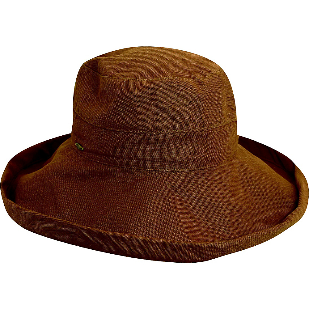 Scala Hats Cotton Big Brim w Drawstring Walnut Scala Hats Hats Gloves Scarves