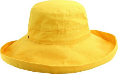 Scala Hats Cotton Big Brim w/ Drawstring One Size - Banana - Scala Hats Hats/Gloves/Scarves