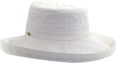Scala Hats Cotton Big Brim w/ Drawstring One Size - White - Scala Hats Hats/Gloves/Scarves