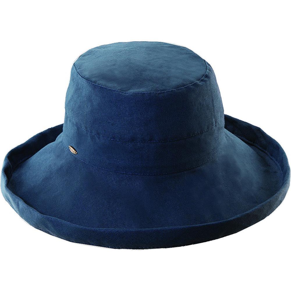 Scala Hats Cotton Big Brim w Drawstring Denim Scala Hats Hats Gloves Scarves