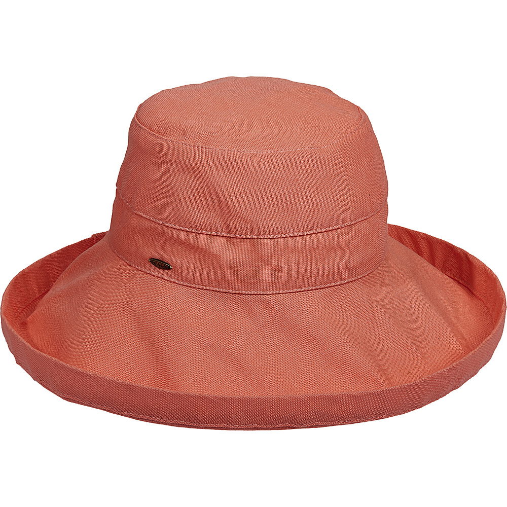 Scala Hats Cotton Big Brim w Drawstring Grapefruit Scala Hats Hats Gloves Scarves