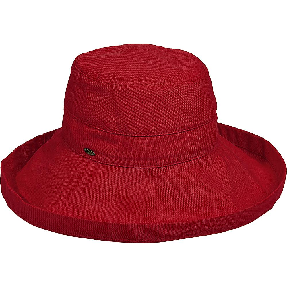Scala Hats Cotton Big Brim w Drawstring Poppy Scala Hats Hats Gloves Scarves