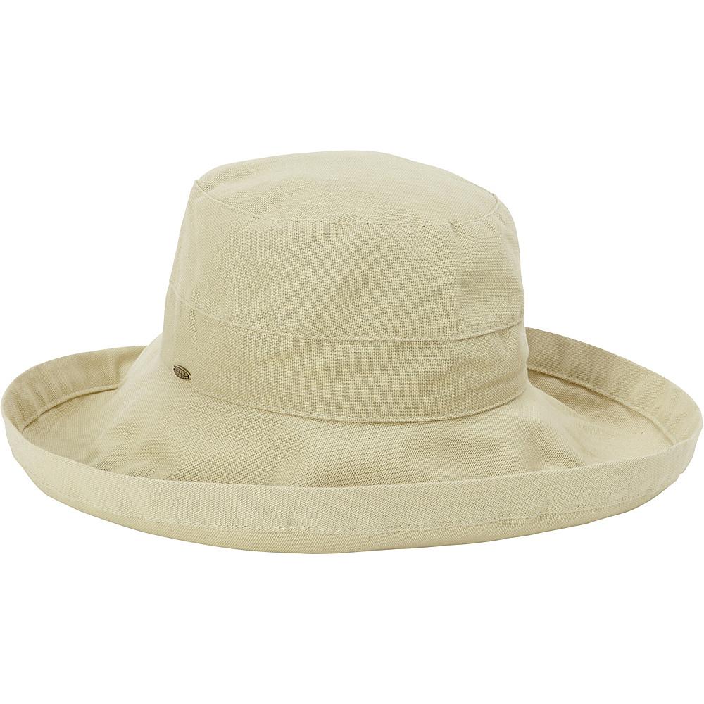 Scala Hats Cotton Big Brim w Drawstring Chino Scala Hats Hats Gloves Scarves