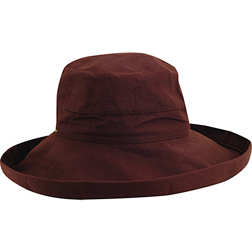 Scala Hats Cotton Big Brim w/ Drawstring CHOCOLATE - Scala Hats Hats