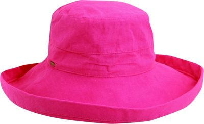 Scala Hats Scala Hats Cotton Big Brim w/ Drawstring One Size - Crimson Rose - Scala Hats Hats/Gloves/Scarves