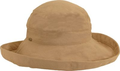 Scala Hats Cotton Big Brim w/ Drawstring One Size - Desert - Scala Hats Hats/Gloves/Scarves