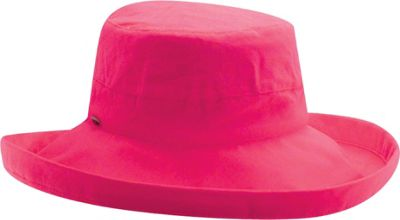 Scala Hats Cotton Big Brim w/ Drawstring One Size - Fuchsia - Scala Hats Hats/Gloves/Scarves