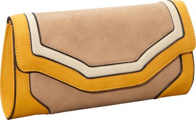 Melie Bianco Imelda Tri-Colored Color Block Clutch