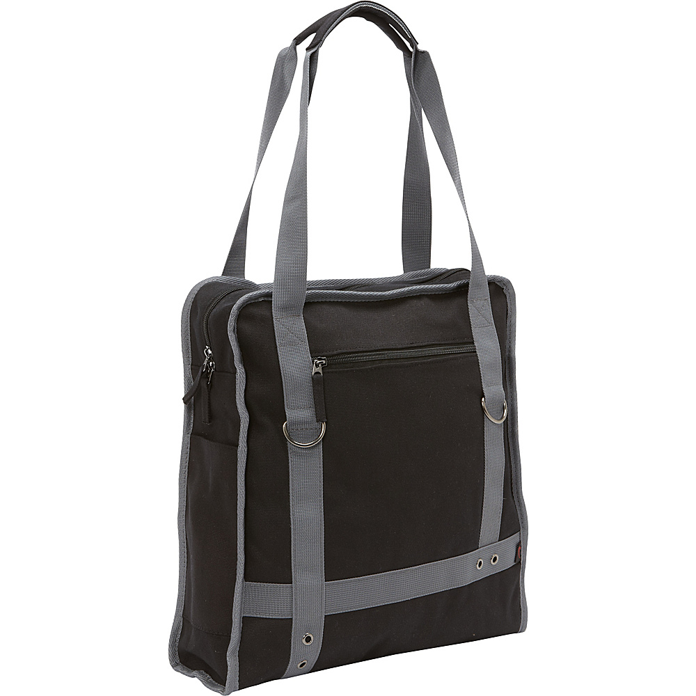 Bellino Expresso Canvas Laptop Tote Black - Bellino Women's Business Bags