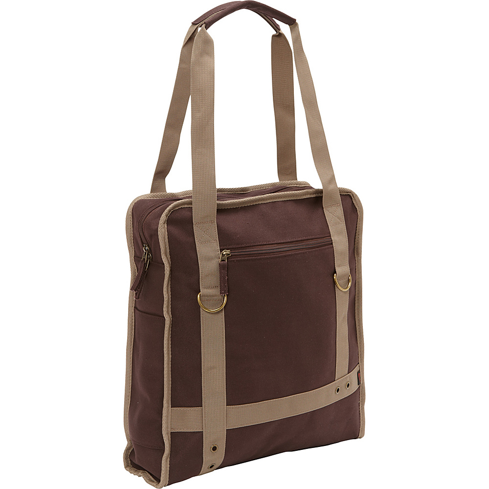 Bellino Expresso Canvas Laptop Tote Brown - Bellino Women's Business Bags