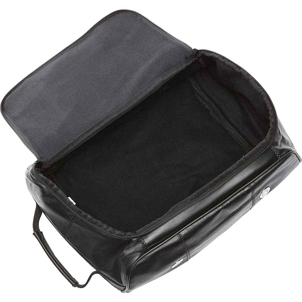 Bellino Leather Golf Shoe Bag Black - Bellino Sports Accessories