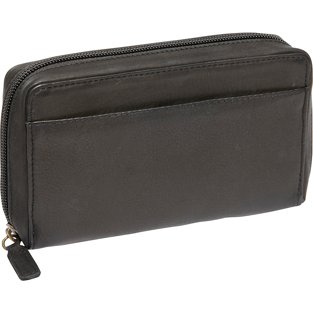 Derek Alexander Medium Full Zip Organizer Clutch Wallet Black - Derek Alexander Womens Wallets - Women's SLG, Women's Wallets