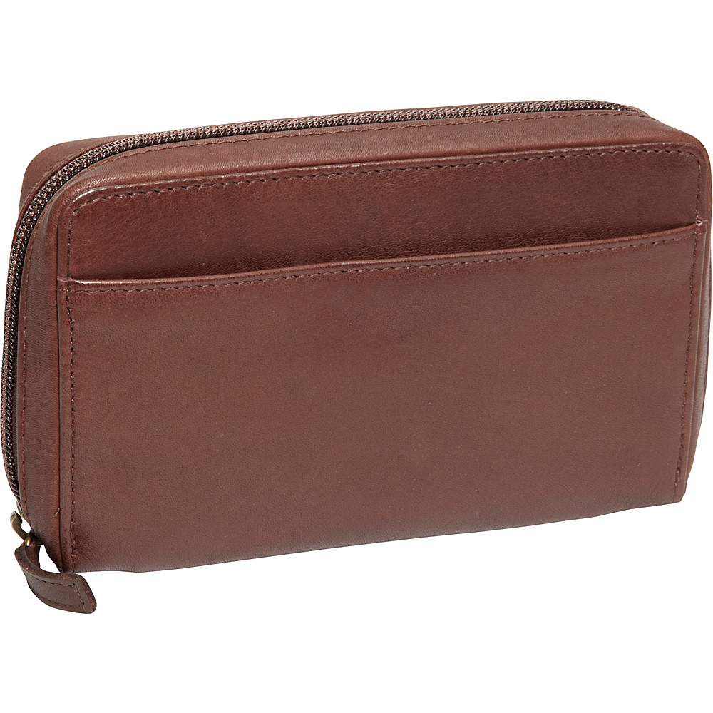Derek Alexander Medium Full Zip Organizer Clutch Wallet Brown - Derek Alexander Womens Wallets - Women's SLG, Women's Wallets