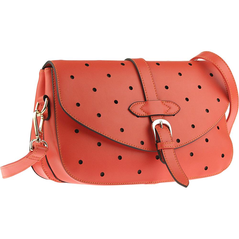 Buxton Gabriella Shoulder Orange (OR) - Buxton Leather Handbags - Handbags, Leather Handbags
