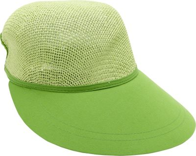 Magid Paper Straw Woven Visor One Size - Lime - Magid Hats/Gloves/Scarves