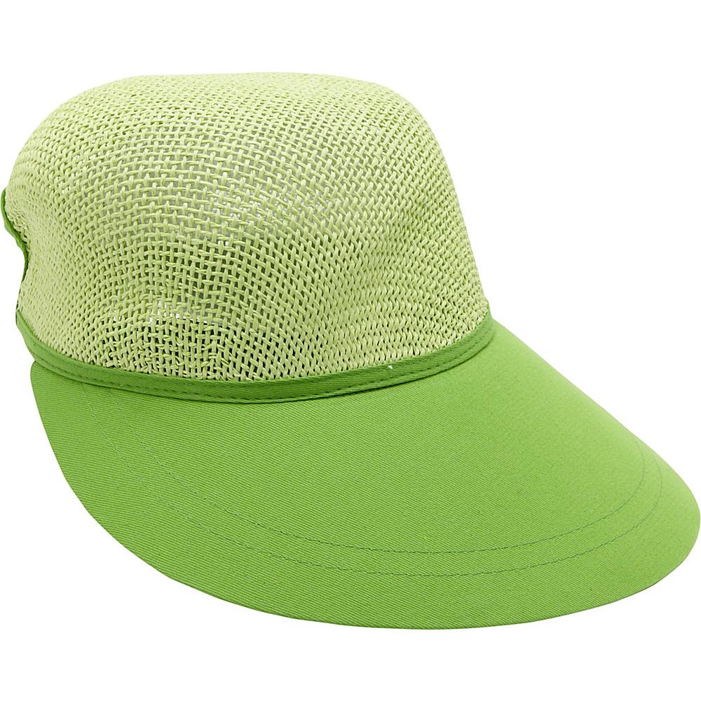 Magid Paper Straw Woven Visor Lime Magid Hats Gloves Scarves