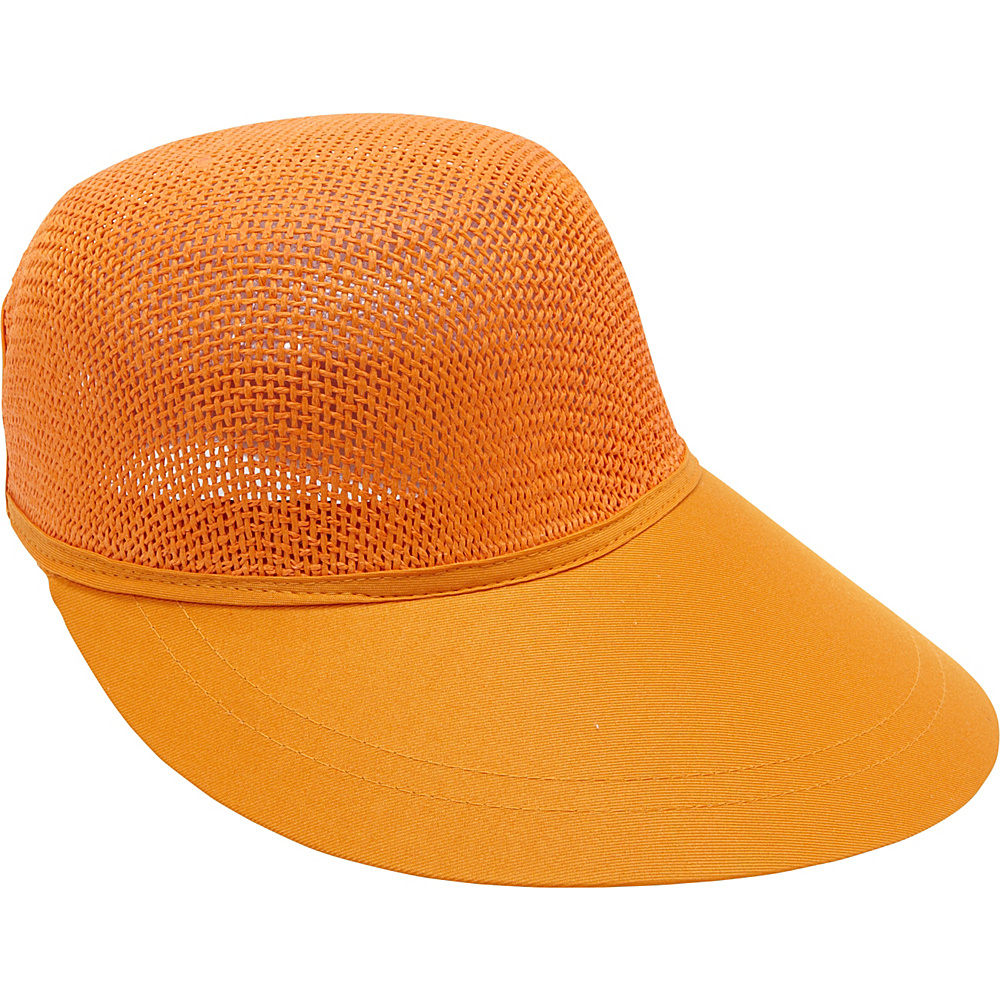 Magid Paper Straw Woven Visor Orange Magid Hats Gloves Scarves