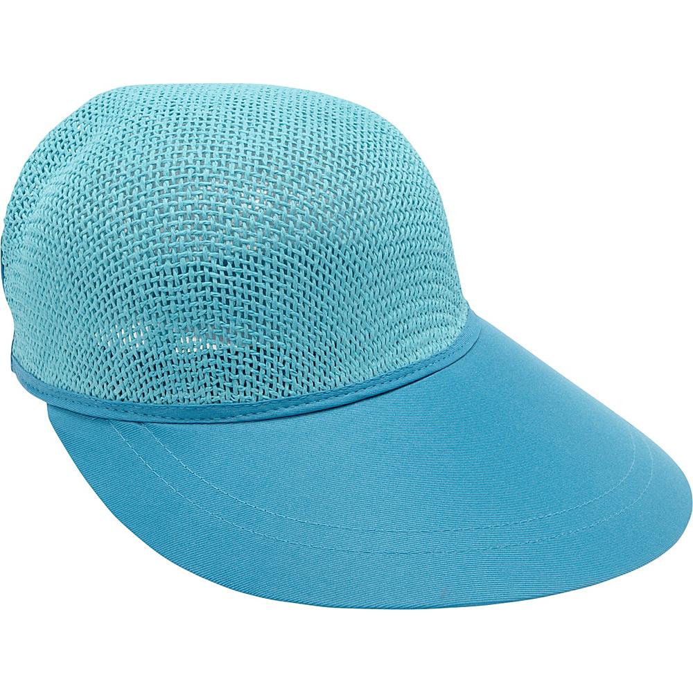 Magid Paper Straw Woven Visor Turquoise Magid Hats Gloves Scarves