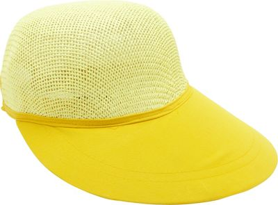 Magid Paper Straw Woven Visor One Size - Yellow - Magid Hats/Gloves/Scarves