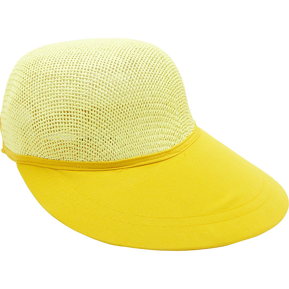 Magid Paper Straw Woven Visor Yellow Magid Hats Gloves Scarves