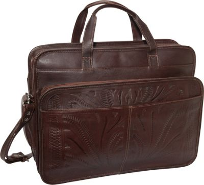 Ropin West Briefcase Brown - Ropin West Non-Wheeled Business Cases