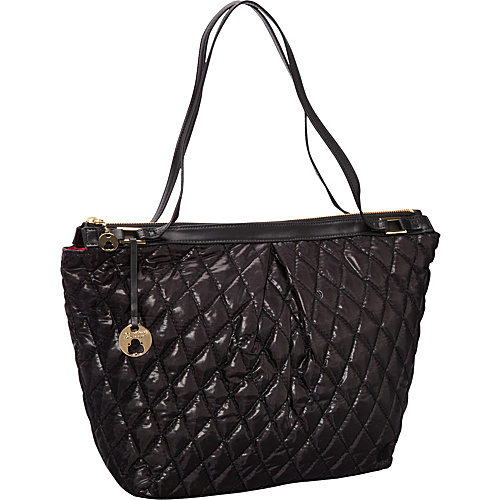 Clava Three Quilted Everyday Tote Black Quilted Nylon - Clava Fabric Handbags