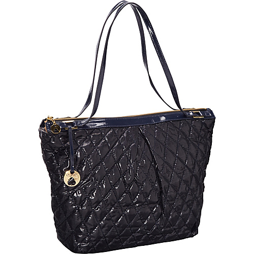Clava Three Quilted Everyday Tote Navy Quilted Nylon - Clava Fabric Handbags